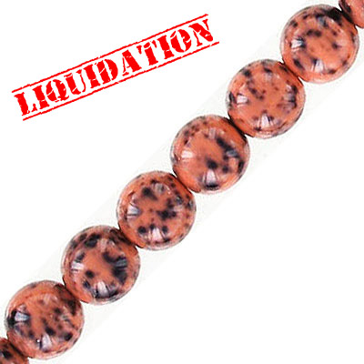 Glass beads, 8mm, round, rhodonite stone imitation, 50 beads per strand, 16 inch strand
