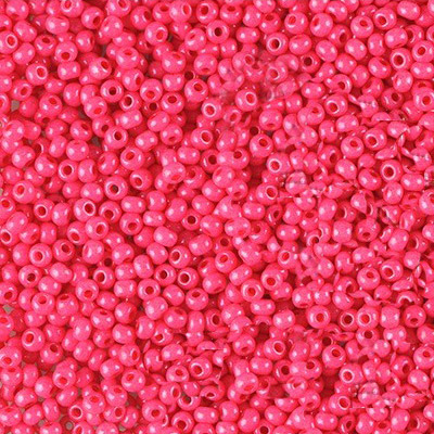 Preciosa seed beads, rocaille, size 10/0, loose, pink terra intensive dyed