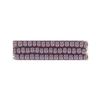 Seed beads, chalk bead loose mauve