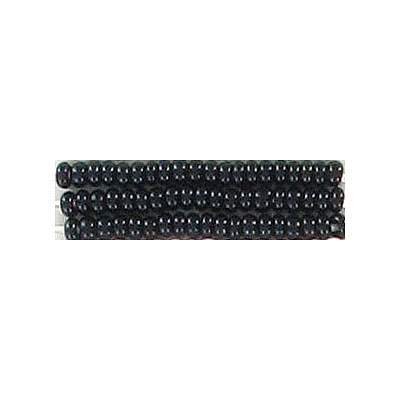 Seed beads, chalk bead loose black size 10