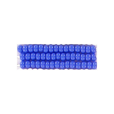 Preciosa seed beads, rocaille, size 10/0, loose, opaque blue