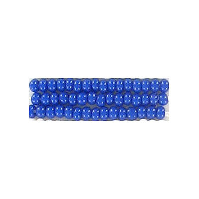 Seed beads, chalk rocaille blue