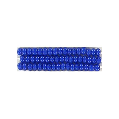 Seed beads, chalk bead loose blue size 10