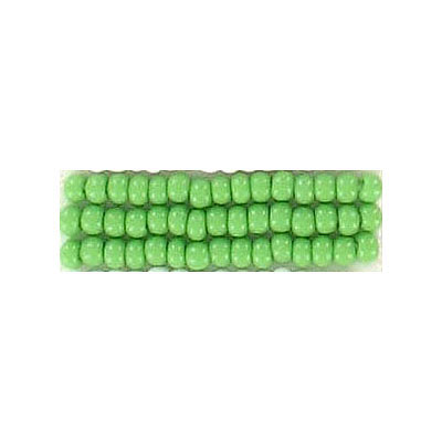 Seed beads, chalk bead loose green #10