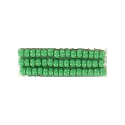 Seed beads, chalk bead loose green size 10
