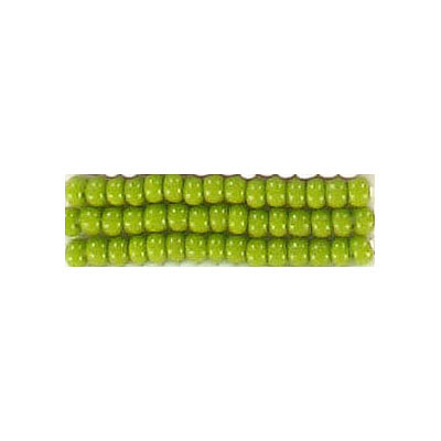 Seed beads, chalk rocaille lime