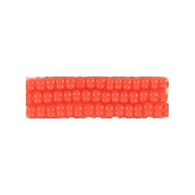 Seed beads, chalk bead loose orange size 10