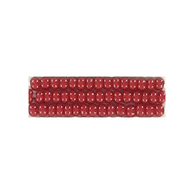 Seed beads, chalk bead loose red size 10