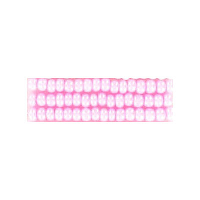 Seed beads, chalk bead strung pink size 10