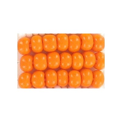 Seed beads, chalk bead orange