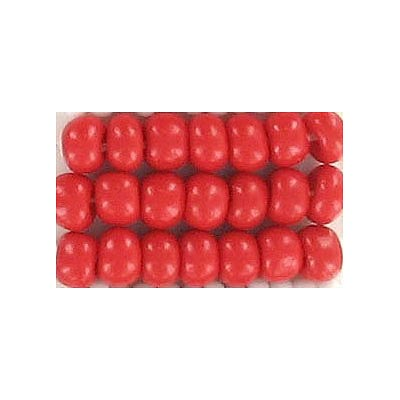 Seed beads, chalk bead red