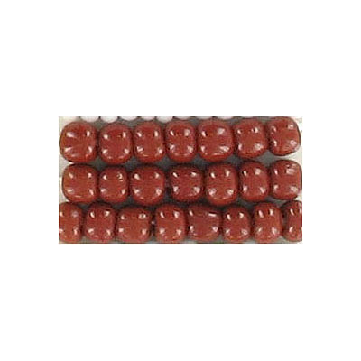 Seed beads, chalk bead loose brown size 6