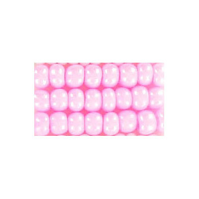 Seed beads, chalk bead loose pink #6