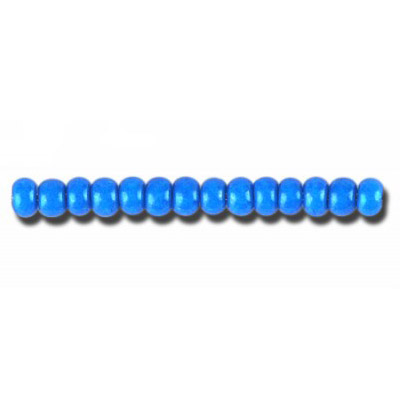 Preciosa seed beads, rocaille, size 6/0, loose, blue terra intensive dyed