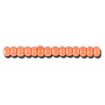 Preciosa seed beads, rocaille, size 6/0, loose, orange terra intensive dyed