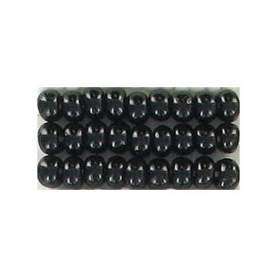 Seed beads, chalk bead loose #6 black