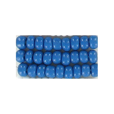 Seed beads, chalk bead loose blue size 6