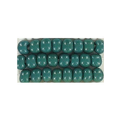 Seed beads, chalk bead loose green size 6