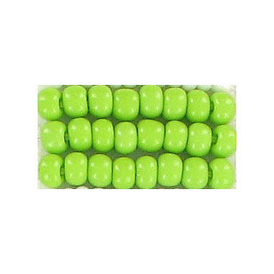 Seed beads, loose chalk rocaille light green