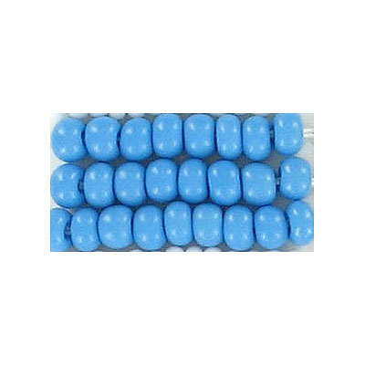 Seed beads, chalk bead turquoise #6 loose