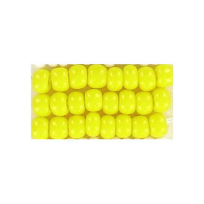 Seed beads, chalk bead loose yellow size 6