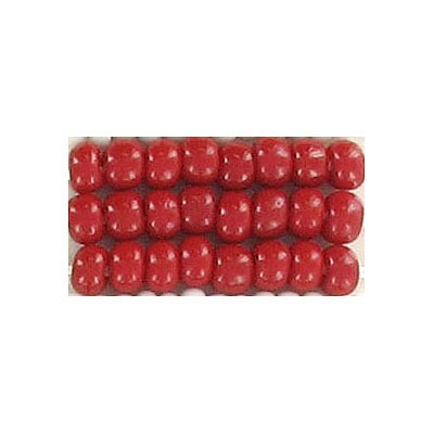 Seed beads, chalk bead loose red size 6