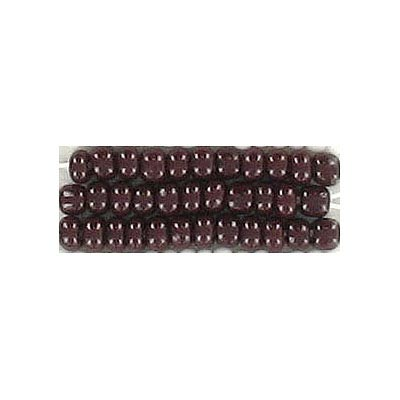 Seed beads, chalk bead dark brown
