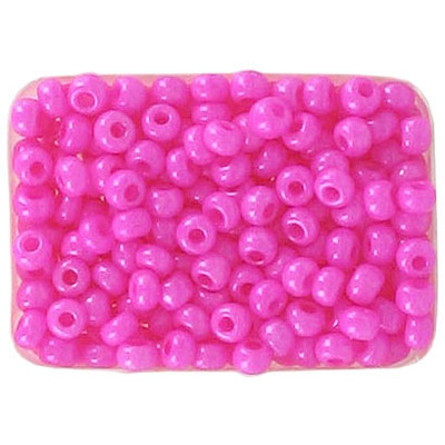 Seed beads, chalk bead dyed pink