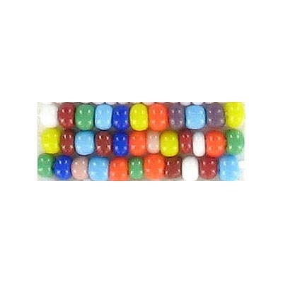 Seed beads, chalk bead #8 loose multi