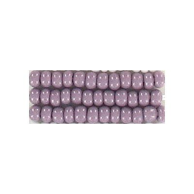 Seed beads, chalk bead mauve #8 loose
