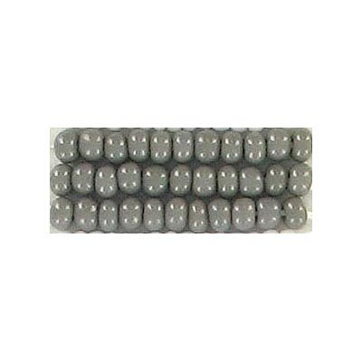 Seed beads, chalk bead grey