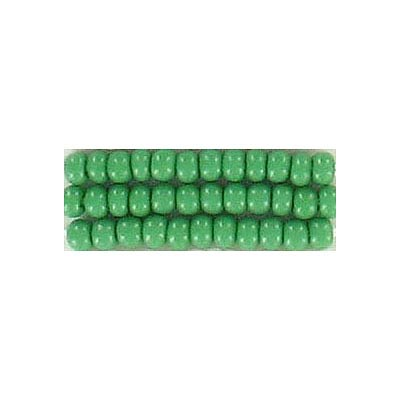 Seed beads, chalk bead #8 loose green