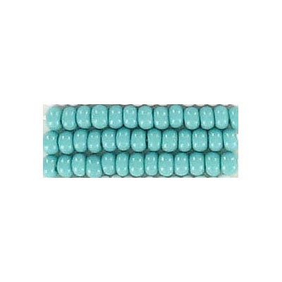 Seed beads, chalk bead turquoise