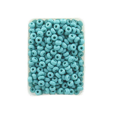 Seed beads, chalk bead, size 8, dark turquoise