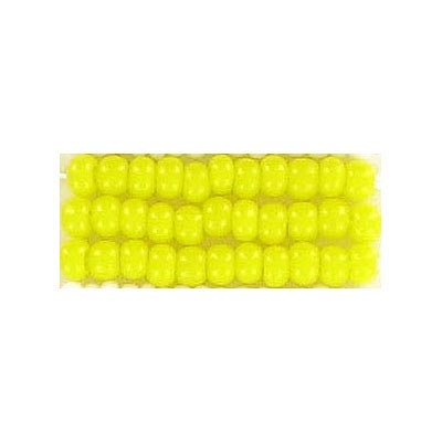Seed beads, chalk bead yellow