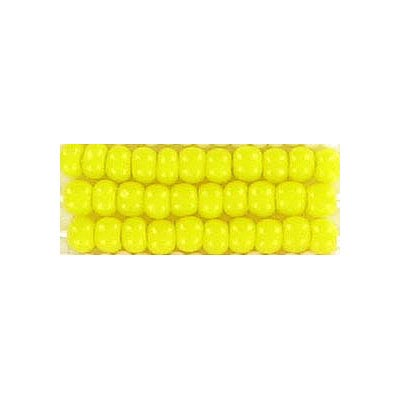 Seed beads, chalk bead #8 loose yellow
