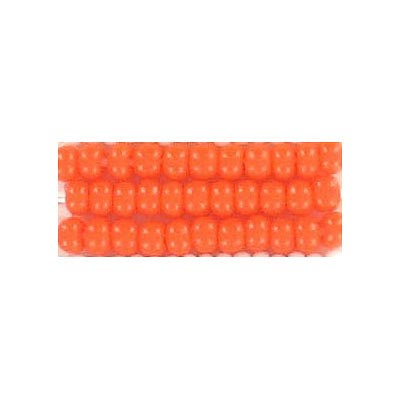 Seed beads, chalk bead orange #8 loose