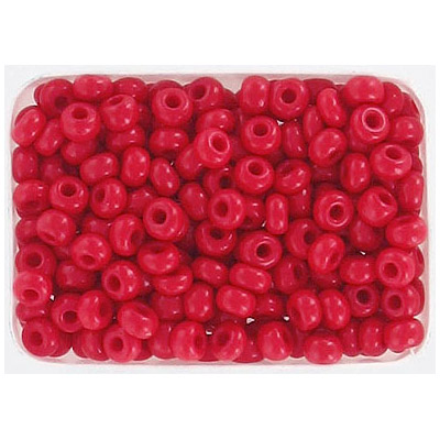 Seed beads, chalk red loose rocailles