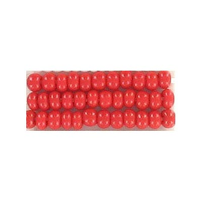 Seed beads, chalk bead #8 loose red