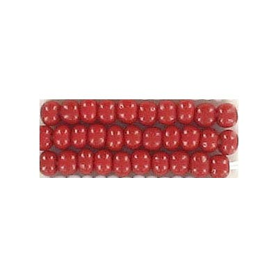 Seed beads, chalk bead red #8 loose