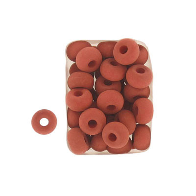 Glass neon beads, 9x5mm, donut, brick