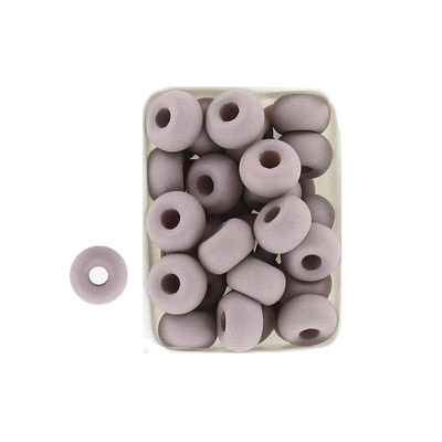 Glass neon beads, 9x5mm, donut, sand