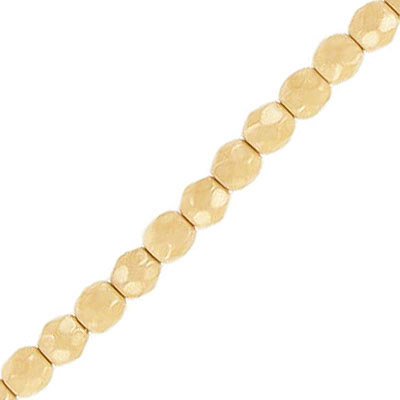 Fire polished beads, 4mm, vividi ivory snake, pack of 5 strands, 7 inch each strand