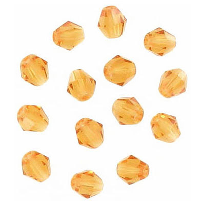 Fire polished Czech beads, rondelle, topaz, 5x5mm