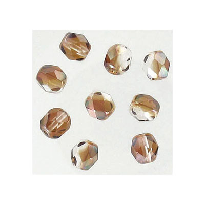 Fire polished beads, 6mm, crystal venus