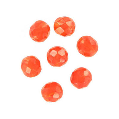 Fire polished Czech beads, hyacinth, 6mm