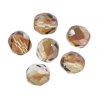 Fire polished Czech beads, crystal venus, 8mm