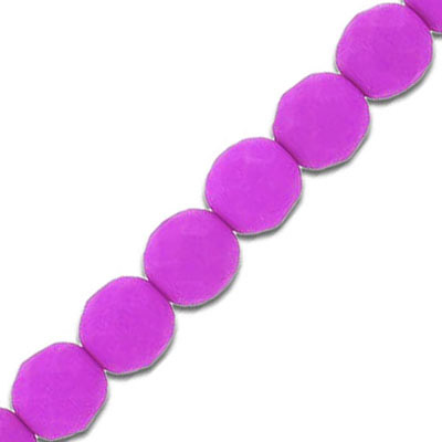 Fire polished beads, 8mm, neon magenta, 7 inch strands