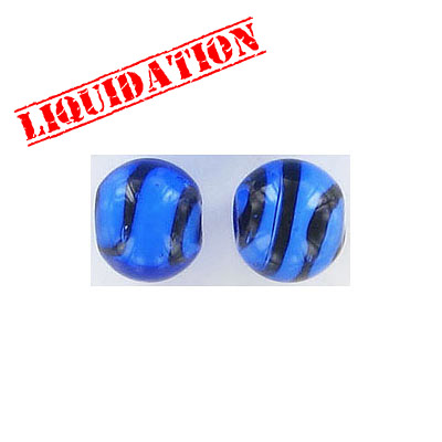 Glass bead India, 10mm, blue