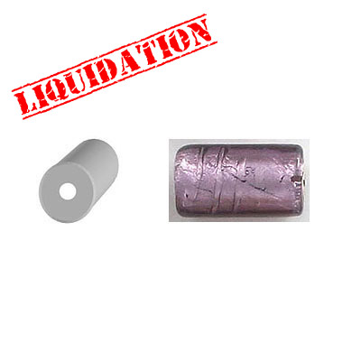Glass bead India, silver lined, purple